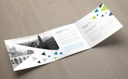 Square Cool Triangles Trifold Brochure 2