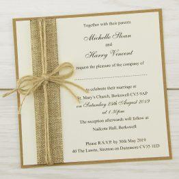 Rustic burap invite